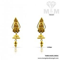 Grandeur Gold Fancy Earring