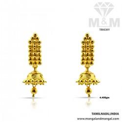 Decent Gold Fancy Earring