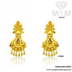 Amiably Gold Fancy Earring