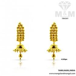 Ancient Gold Fancy Earring