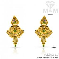 Aesthetic Gold Fancy Earring