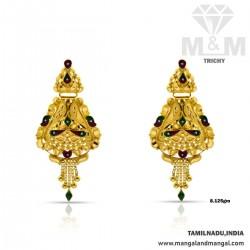Divine Gold Fancy Earring