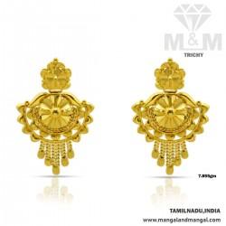 Dreamy Gold Fancy Earring