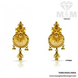 Glamorous Gold Fancy Earring