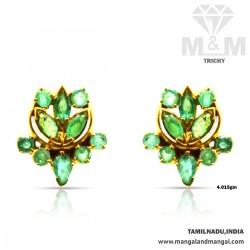 Gratify Gold Emerald Stone...