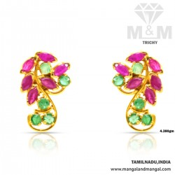 Folk Gold Ruby And Emerald...