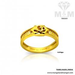Classy Gold Casting Om Ring