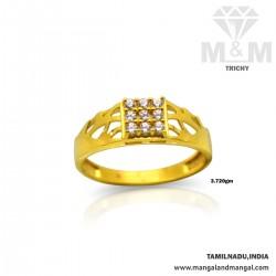 Joyful Gold Casting Stone Ring