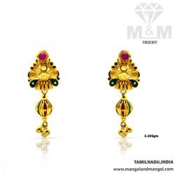Traditional Gold Fancy Earring