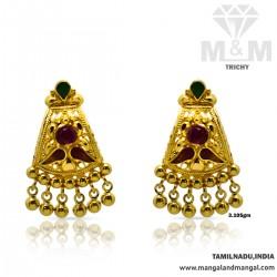 Cognizant Gold Fancy Earring