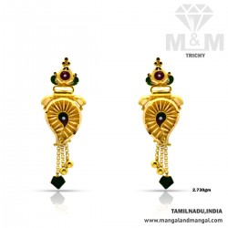Dramatic Gold Fancy Earring