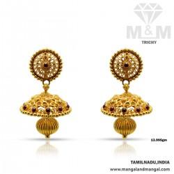 Glamorous Gold Antique Earring