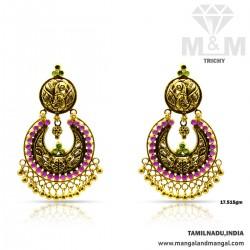 Wondrous Gold Antique Earring