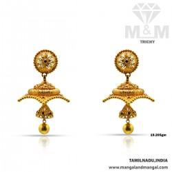 Gratify Gold Antique Earring
