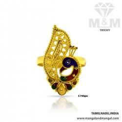 Grandeur Gold Peacock Ring