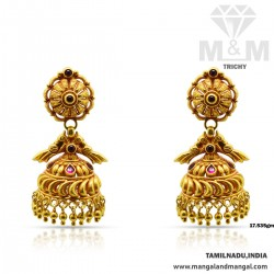 Majestic Gold Antique Earring