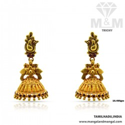 Captivating Gold Antique Earring