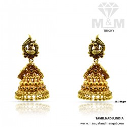 Tranquil Gold Antique Earring
