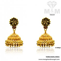 Sparkling Gold Antique Earring