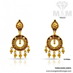 Luxurious Gold Antique Earring