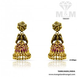 Skilful Gold Antique Earring