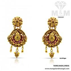Ravish Gold Women Antique Earring Drops