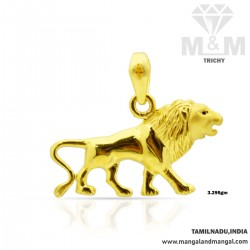 Awesome Gold Lion Casting Pendant