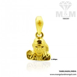 Blessed Gold Sai Baba Casting Pendant
