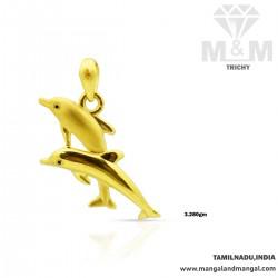 Pleasantness Gold Dolphin Casting Pendant