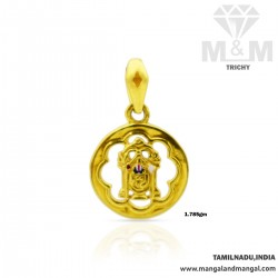 Niceness Gold Balaji Casting Pendant