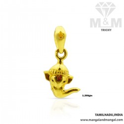 Polite Gold Elephant Casting Pendant