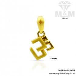 Gratify Gold Om Casting Pendant