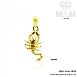 Subtle Gold Casting Pendant
