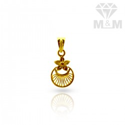 Quirky Gold Casting Pendant