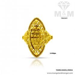 Rustic Gold Women Fancy Ring