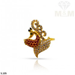 Consummate Gold Peacock Ring