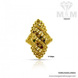 Polite Gold Women Fancy Ring