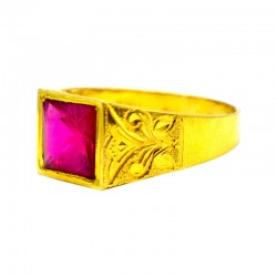 Colorful Gold Stone Ring