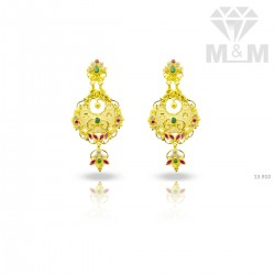 Mythical Gold Fancy Earring