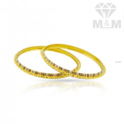 Festivity Gold Rhodium Bangle