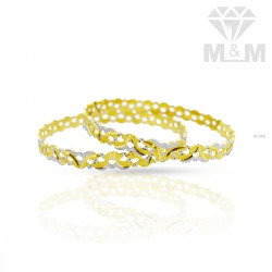Superior Gold Rhodium Bangle