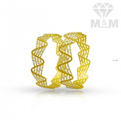 Sublime Gold Rhodium Bangle