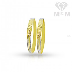 Canny Gold Rhodium Bangle