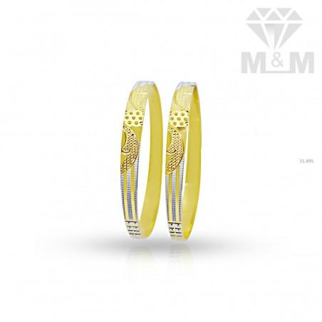 Canny Gold Rhodium Bangle