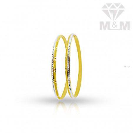 Charming Gold Rhodium Bangle