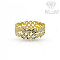 Gallant Gold Rhodium Bangle