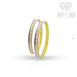Marvelous Gold Rhodium Bangle