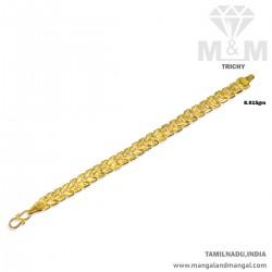 Rustic Gold Men Fancy Bracelet