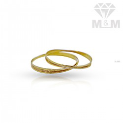 Personable Gold Rhodium Bangle