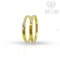 Lambent Gold Rhodium Bangle